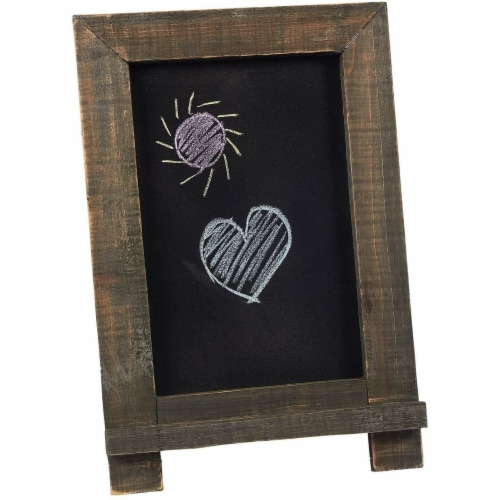 Chalkboard Sign with Chalk Markers and Eraser (14.25 x 9.6 x 10.2, 6 Pieces) Perspective: top