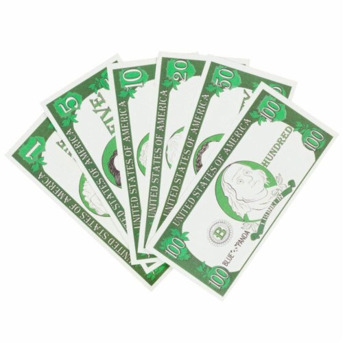 Play Money for Kids, 300 Pcs Learning Money with Canvas Bag for Counting Money Perspective: top