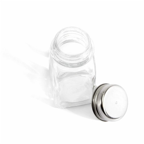 Juvale Glass Salt and Pepper Shakers (24 Pack) Perspective: top