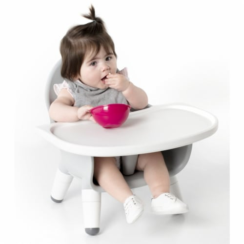 Guidecraft Gray Feeding Chair Perspective: top
