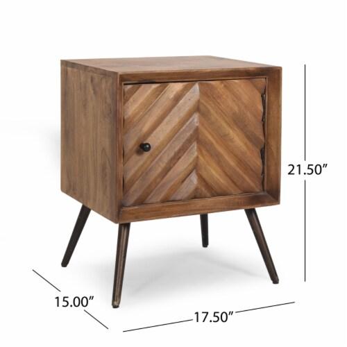 Xaviera Handcrafted Boho Mango Wood Cabinet Perspective: top