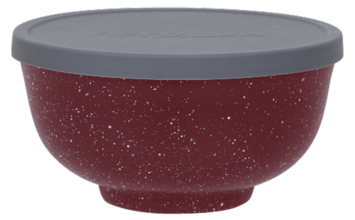 Fifty/Fifty Vacuum Insulated Bowl & Lid - Speckled Brick Red Perspective: top