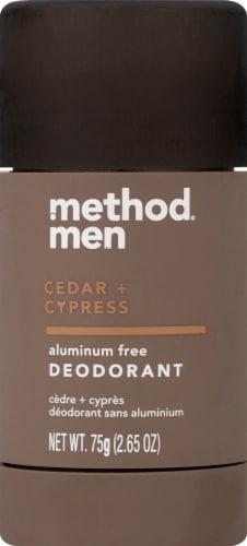 Method Men Cedar + Cypress Aluminum Free Deodorant Perspective: top