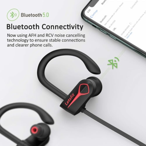 Letsfit U8L Bluetooth Headphones - Black Perspective: top