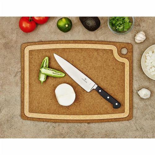 Epicurean Gourmet Series Cutting Board, Nutmeg & Natural - 14.5 x 11.25 x 0.37 i Perspective: top