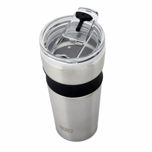 Built Shasta Stainless Steel Vacuum-Insulated Tumbler - Silver Perspective: top