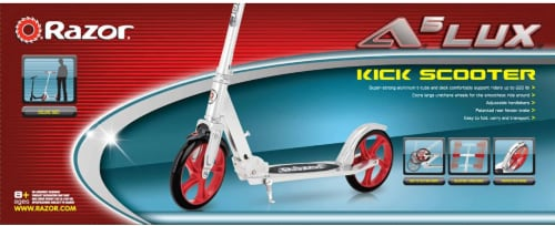Razor® A5 Lux Kick Scooter - Red/Silver Perspective: top