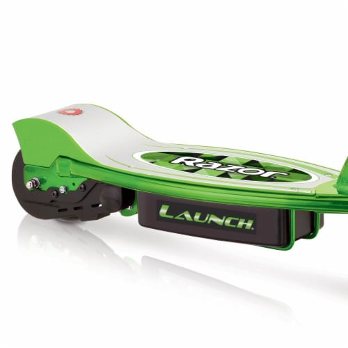 Razor E100 Kids Ride On 24V Motorized Powered Electric Scooter Toy, Green Perspective: top
