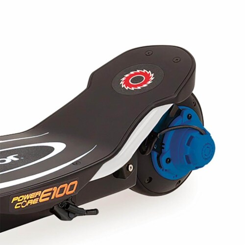 Razor Power Core E100 Kids Ride On Motorized Electric Powered Scooter Toy, Blue Perspective: top