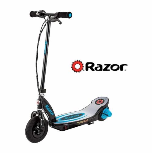 Razor Power Core E100 Kids Motorized Electric Powered Kick Start Scooter, Blue Perspective: top