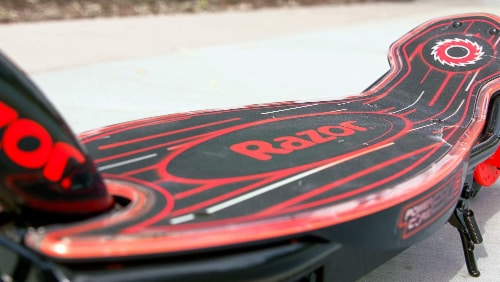 Razor® Black/Red Power Core E90 Glow Electric Scooter Perspective: top