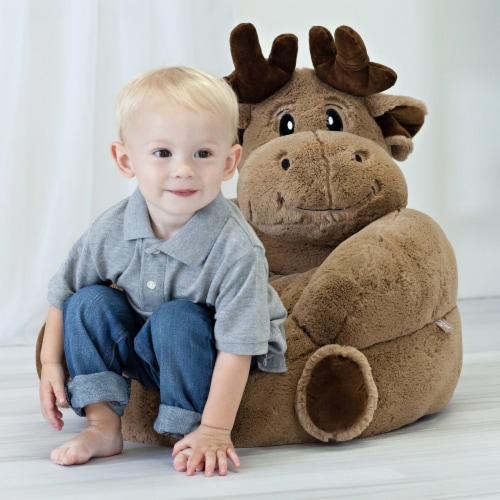Trend Lab Children's Plush Moose Character Chair Perspective: top