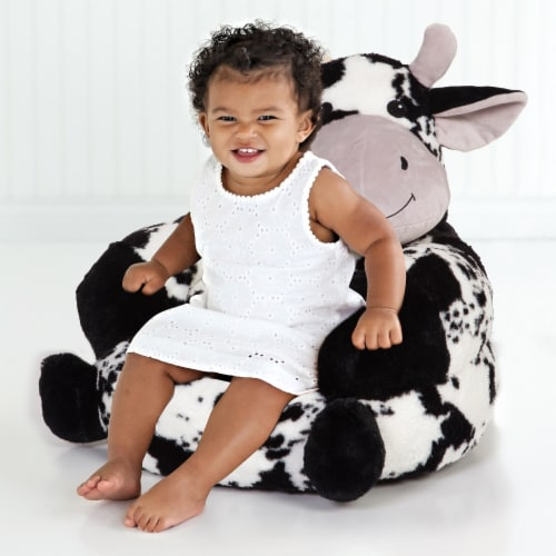 Trend Lab Children's Plush Cow Character Chair Perspective: top