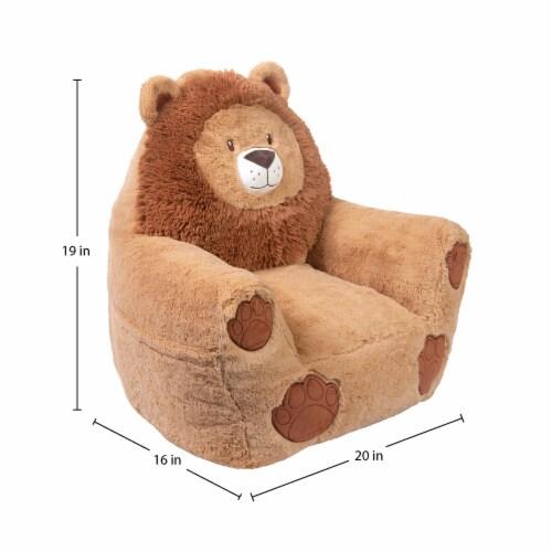 Cuddo Buddies Lion Plush Chair Perspective: top