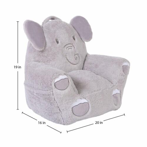 Cuddo Buddies Gray Elephant Plush Chair Perspective: top