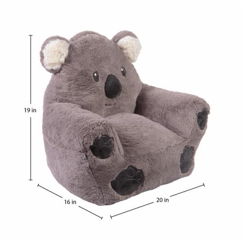 Cuddo Buddies Gray Koala Plush Chair Perspective: top