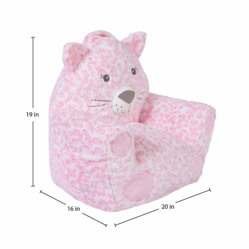 Cuddo Buddies Pink Leopard Plush Chair Perspective: top