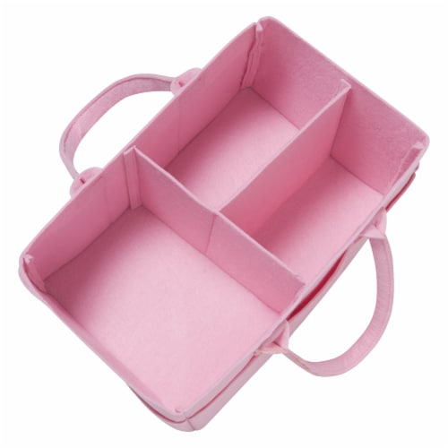 Sammy & Lou Pink Felt Caddy & Tote Set Perspective: top