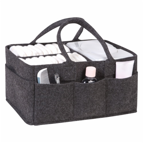 Sammy & Lou Charcoal Felt Caddy & Essential Tote Set Perspective: top