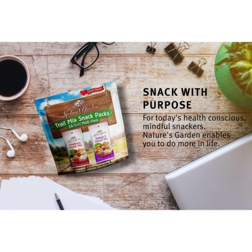 Nature's Garden Trail Mix Snack Packs Perspective: top