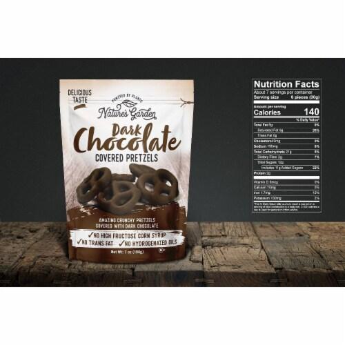 Nature's Garden Dark Chocolate Covered Pretzels Perspective: top