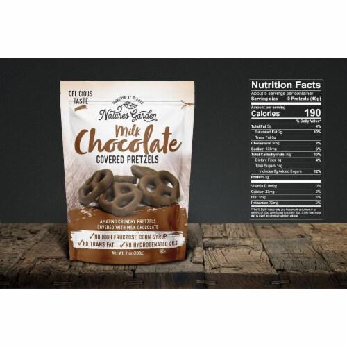Nature's Garden Milk Chocolate Covered Pretzels 7 oz Perspective: top