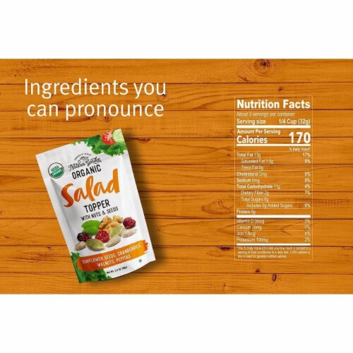 Nature's Garden Organic Nuts & Seeds Salad Topper 3.5 oz (Pack of 5) Perspective: top