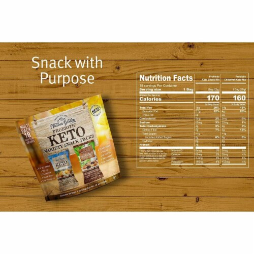 Nature's Garden Probiotic Keto Variety Snack Packs 1 oz (Pack of 18) Perspective: top