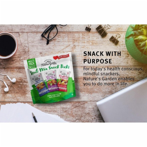 Nature's Garden Healthy Trail Mix Snack Packs Perspective: top
