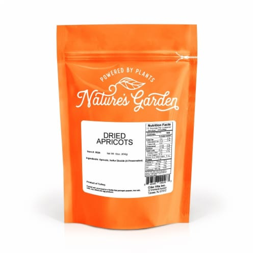 Nature's Garden Dried Turkish Apricots 16oz Perspective: top