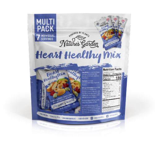 Nature's Garden Heart Healthy Mix Single Serve - 1.2 oz. (Pack of 7) Perspective: top