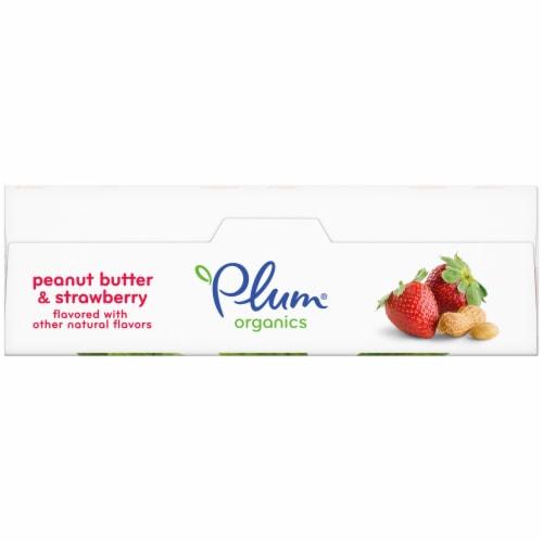 Plum Organics Peanut Butter & Strawberry Snack Size Sandwich Bar Perspective: top