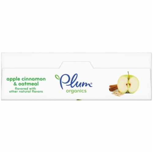 Plum Organics Jammy Sammy Apple Cinnamon & Oatmeal Snack Size Sandwich Bars Perspective: top