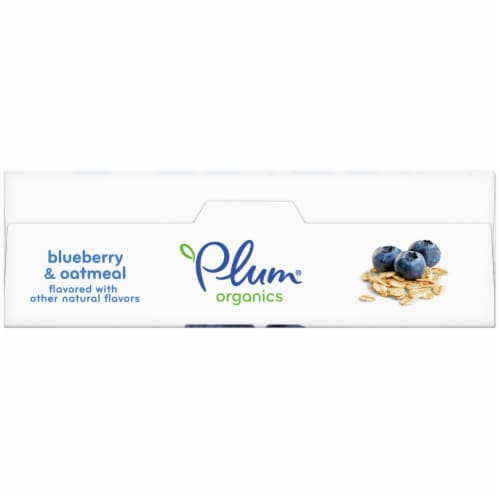 Plum Organics Blueberry and Oatmeal Jammy Sammy Sandwich Bar Perspective: top