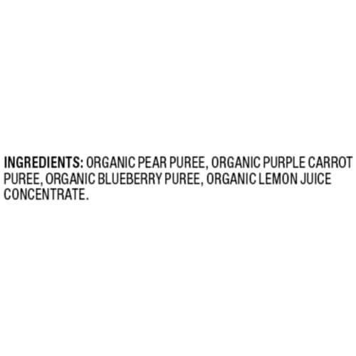 Plum Organics Pear Purple Carrot & Blueberry Stage 2 Baby Food Perspective: top