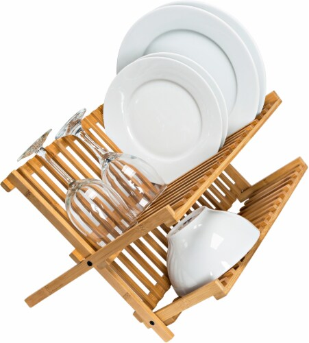 Honey Can Do Bamboo Drying Rack - Natural Perspective: top