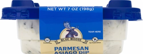 Blue Moose of Boulder Hand Crafted Parmesan Asiago Dip Perspective: top