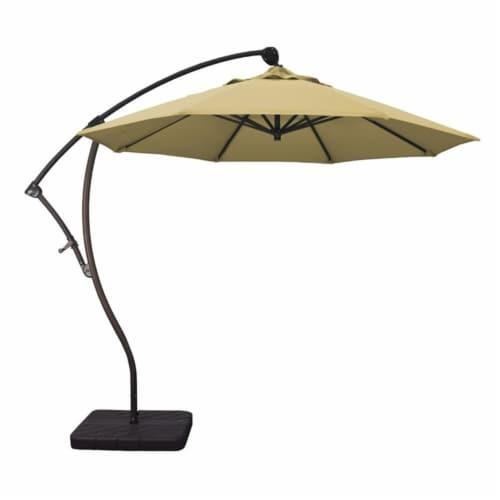 California Umbrella 9' Cantilever Umbrella in Wheat Perspective: top