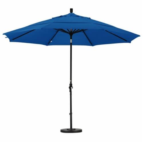 California Umbrella 11' Patio Umbrella in Pacific Blue Perspective: top
