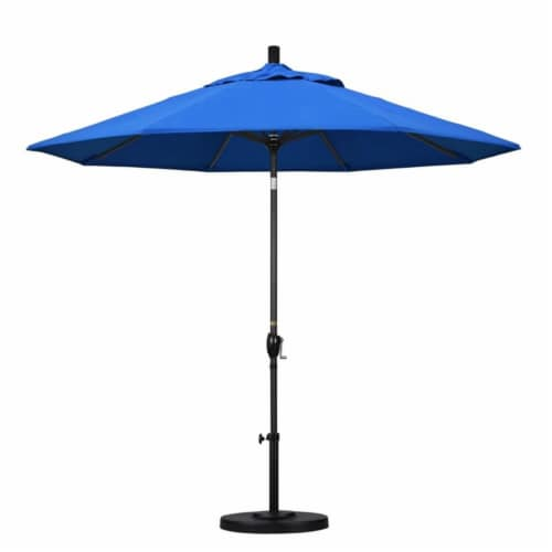 California Umbrella 9' Patio Umbrella in Royal Blue Perspective: top
