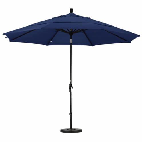 California Umbrella 11' Patio Umbrella in Navy Blue Perspective: top