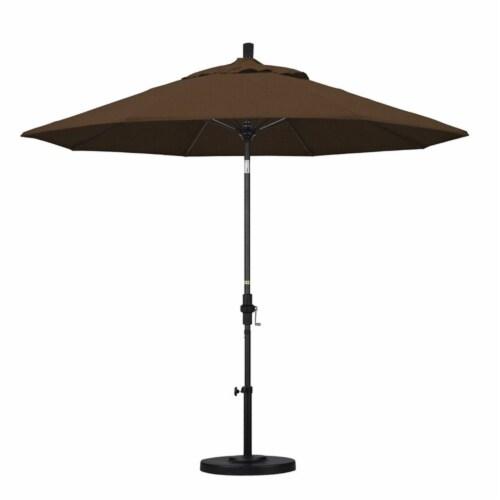 California Umbrella 9' Patio Umbrella in Teak Perspective: top