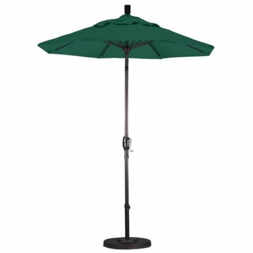 6' Patio Umbrella in Forest Green - California Umbrella Perspective: top