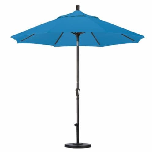 California Umbrella 9' Patio Umbrella in Pacific Blue Perspective: top
