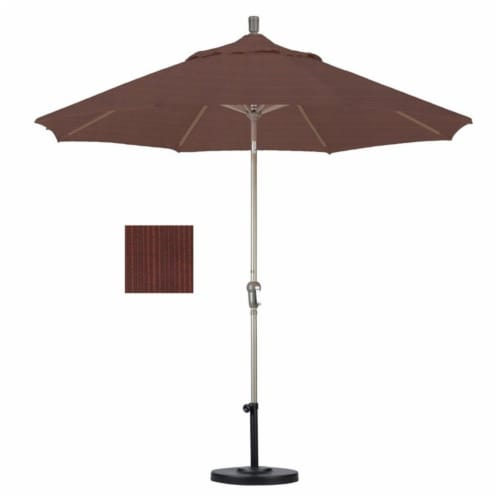 California Umbrella 9' Patio Umbrella in Terrace Adobe Perspective: top
