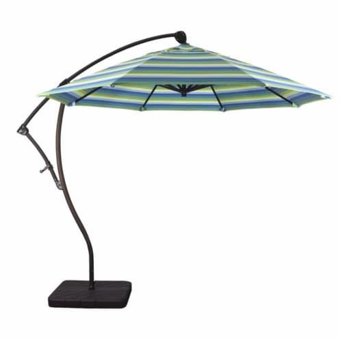 California Umbrella 9' Cantilever Umbrella in Seville Seaside Perspective: top