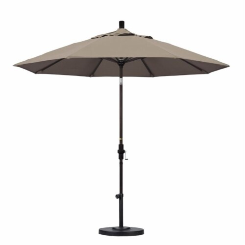California Umbrella 9' Patio Umbrella in Taupe Perspective: top