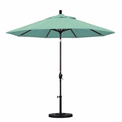 9' Patio Umbrella in Spectrum Mist - California Umbrella Perspective: top