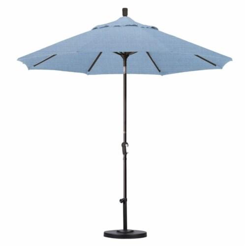 California Umbrella 9' Patio Umbrella in Air Blue Perspective: top