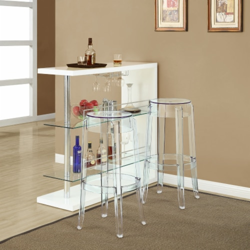 Casper Bar Stool Set of 2 - Clear Perspective: top